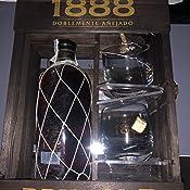 Brugal 1888 Ron Premium y Estuche Madera 2 Vasos, 700ml