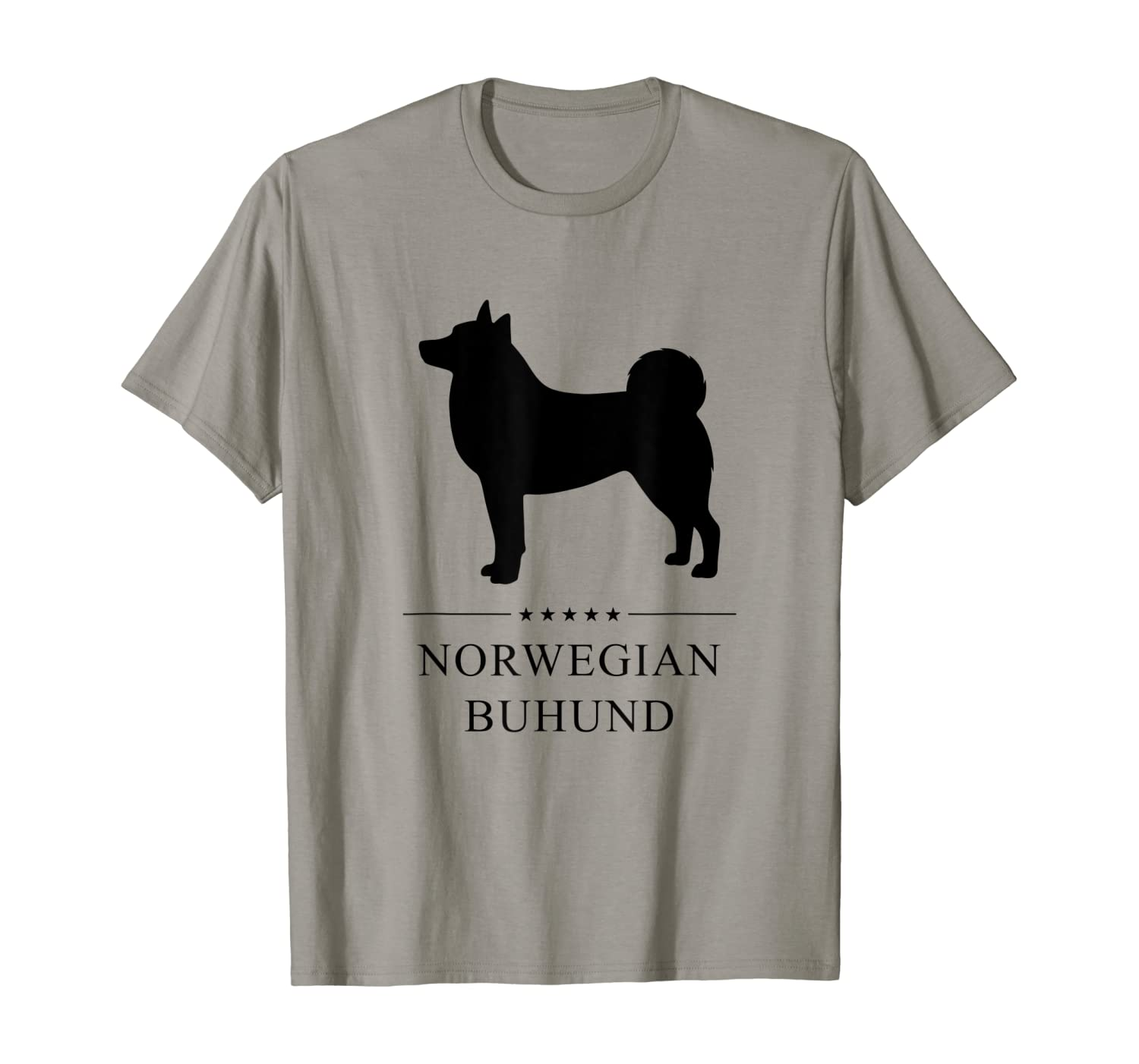Amazon Com Norwegian Buhund Black Silhouette T Shirt Clothing