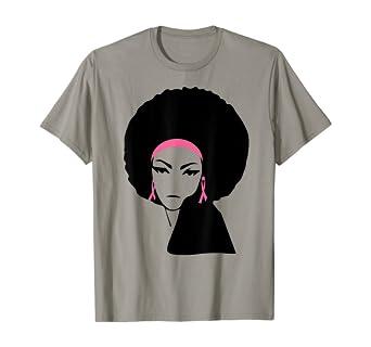 Amazon Com Breast Cancer Black Women Shirt Awareness Pink Ribbon Gifts T Shirt Clothing
