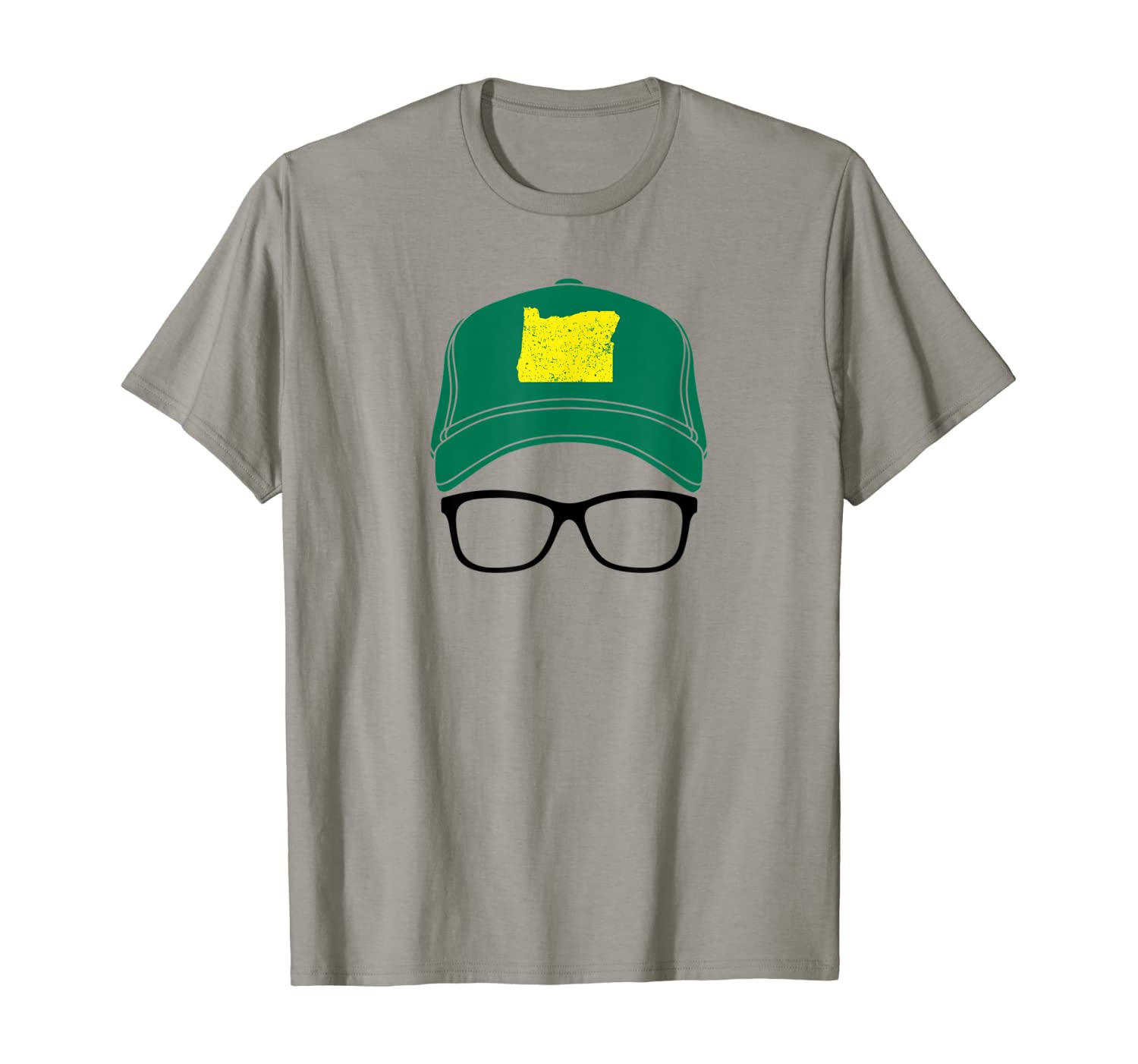 Oregon funny map on hat pacific northwest gift idea T-Shirt