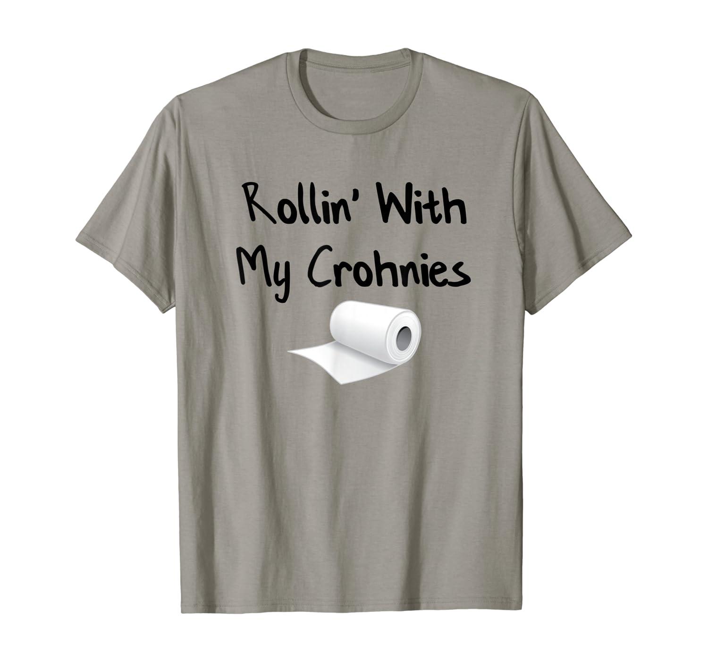 Amazon Com Colon Cancer And Crohn S Disease Awareness Shirts Clothing