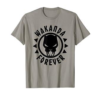 amazon com marvel black panther icon wakanda forever circle t shirt clothing marvel black panther icon wakanda forever circle t shirt
