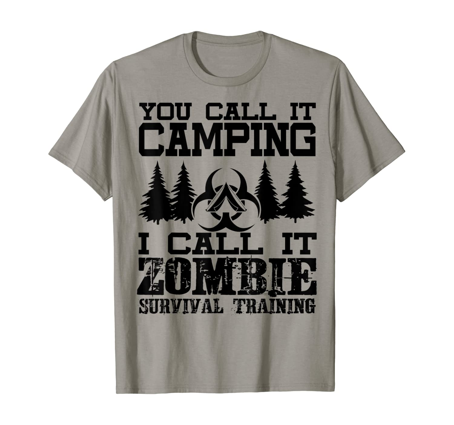 Zombie Survival Training Camping Shirt - Funny Halloween T-Shirt