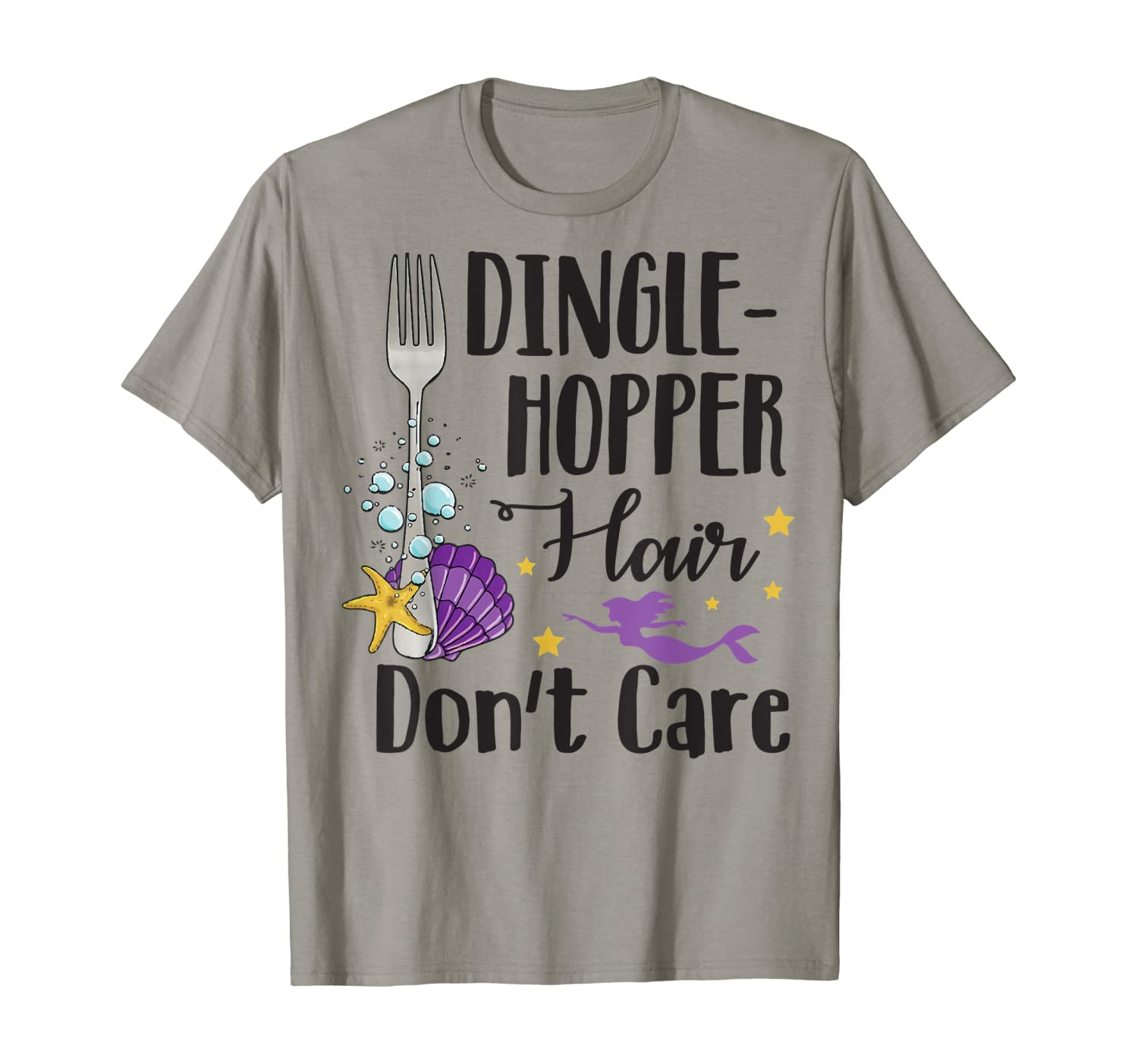 Funny Dingle-Hopper Hair Don't Care Mermaid T-Shirt