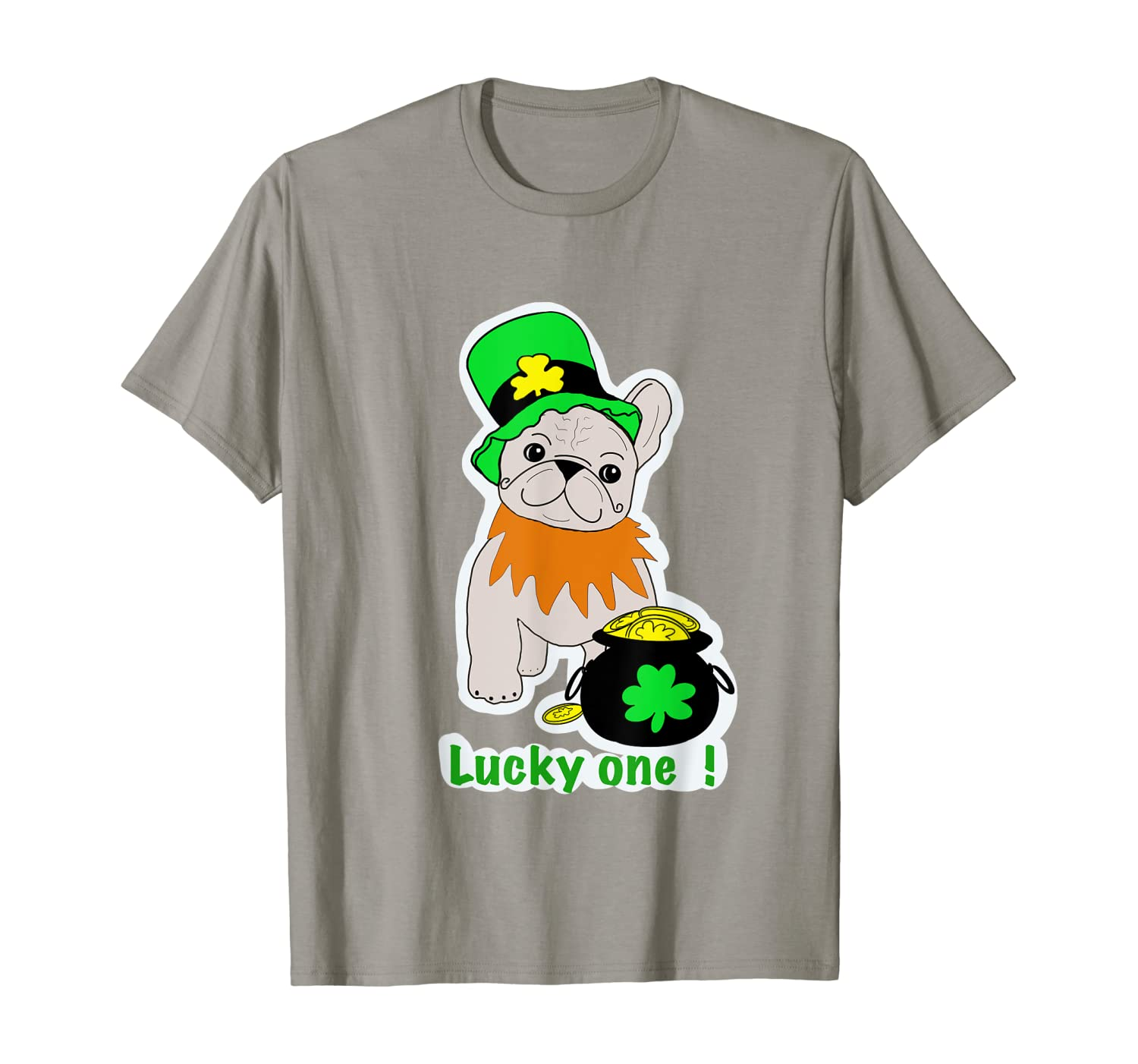Cute French Bulldog St.Patrics Day Tee Gift for her him kid T-Shirt