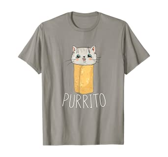 Amazon Com Purrito Kitten Burrito Funny Cinco De Mayo Cat Tshirt Clothing