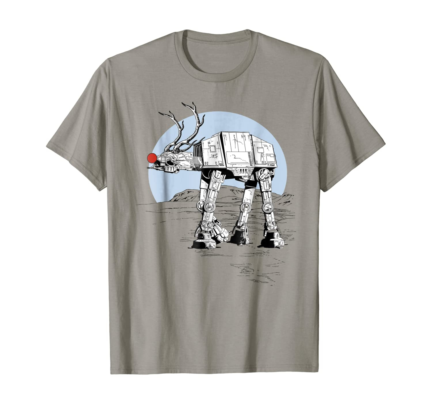 Star Wars Rudolph ATAT Walker Christmas Graphic T-Shirt