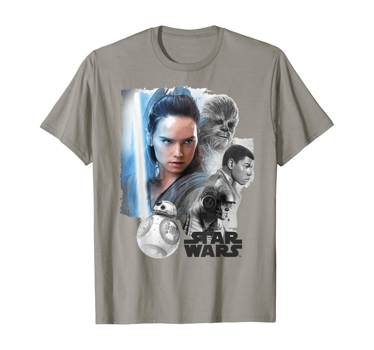 Star Wars Last Jedi Rey & the Team Are Ready Graphic T-Shirt