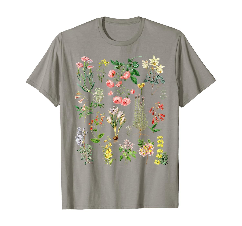 Vintage Botanical Floral Flower Wildflower Garden Tshirt T-Shirt
