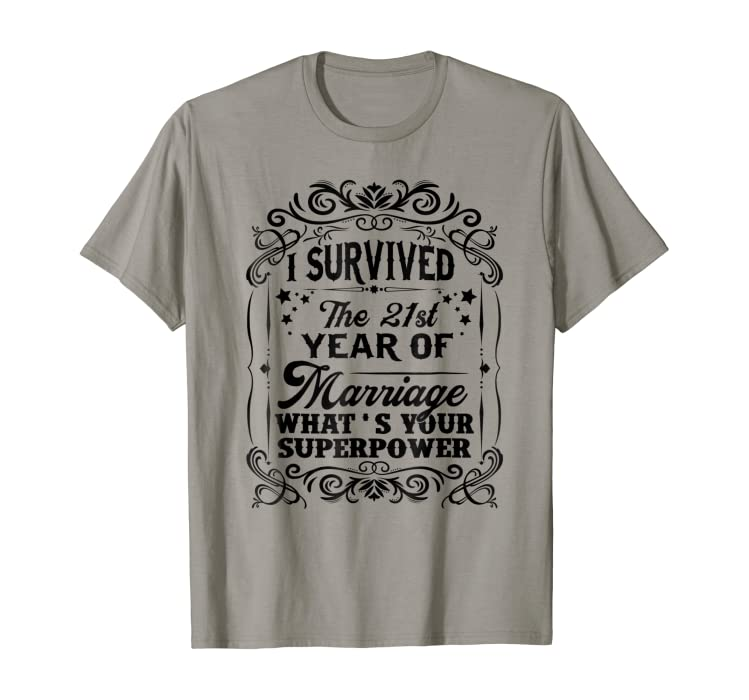 Amazon I Survived The 21st Year Of Marriage Anniversary Gift
