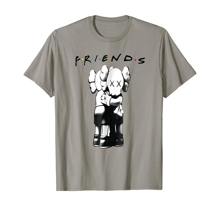 787ff556477ac Amazon.com: Kaws Together Friends Forever Premium Hug T-shirt: Clothing