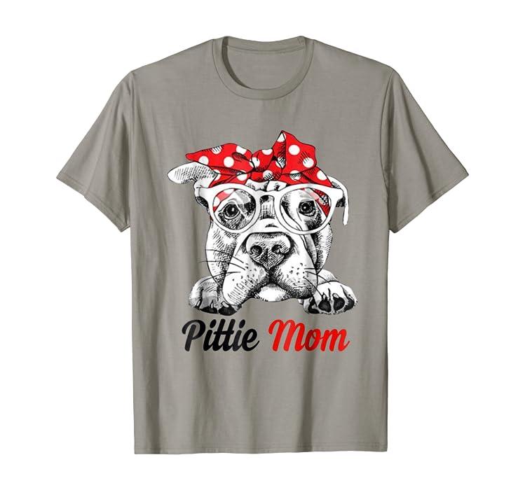 dff4472e157 Amazon.com  Pittie Mom American Pit Bull Terrier T-Shirt  Clothing