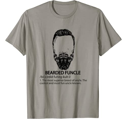 Bearded Funcle Shirt Funny Uncle Definition Gift T Shirt