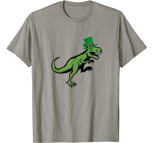 T Rex Dinosaur Saint Patricks Day Shirt Gifts Kids Men Women T Shirt