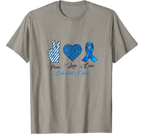 Peace Love Cure Colorectal Cancer T Shirt