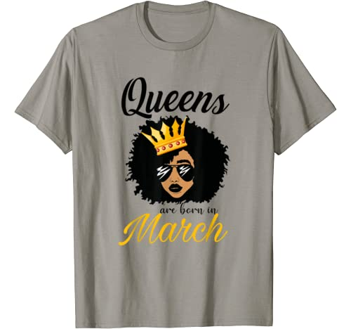 Birthday Queens March Shirts For Women African American T Shirt