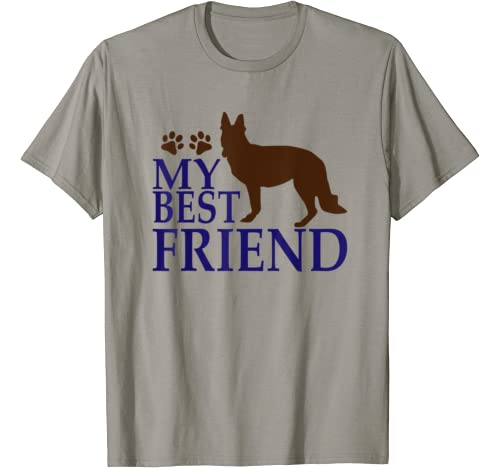 Funny Dog Lover Tees   My Best Friend   Paw Print T Shirt