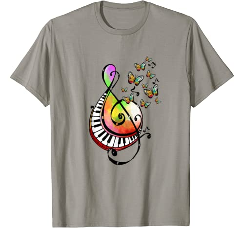 Music Note Tie Dye Color Hippie Butterfly Music Lover T Shirt