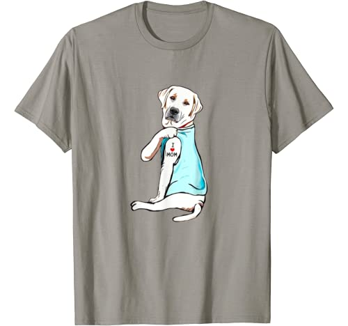 White Labrador Lab Mom Tattoo Funny Mama Mother Grandma Gift T Shirt
