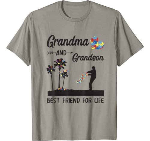 Autism Awareness Grandma And Grandson Best Friend For Life T Shirt