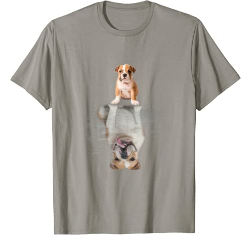 Bulldog Reflection Funny Father's Day Gift T Shirt