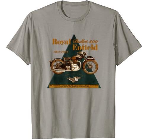 La l/égendaire moto Royal Enfield Bullet 500 T-Shirt