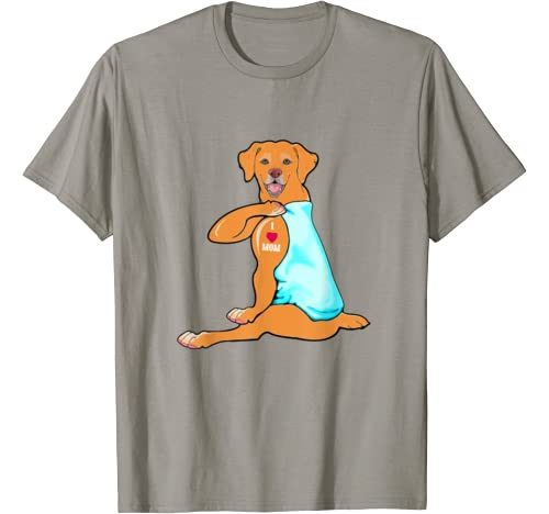 Red Labrador Lab Mom Tattoo Funny Mama Mother Grandma Gift T Shirt