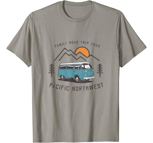 Family Road Trip 2020 Pacific Northwest   Matching Vacation T Shirt