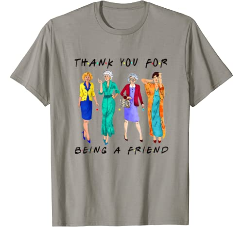 Womans Thank You For Being A Friend Girls Vintage T Shirt