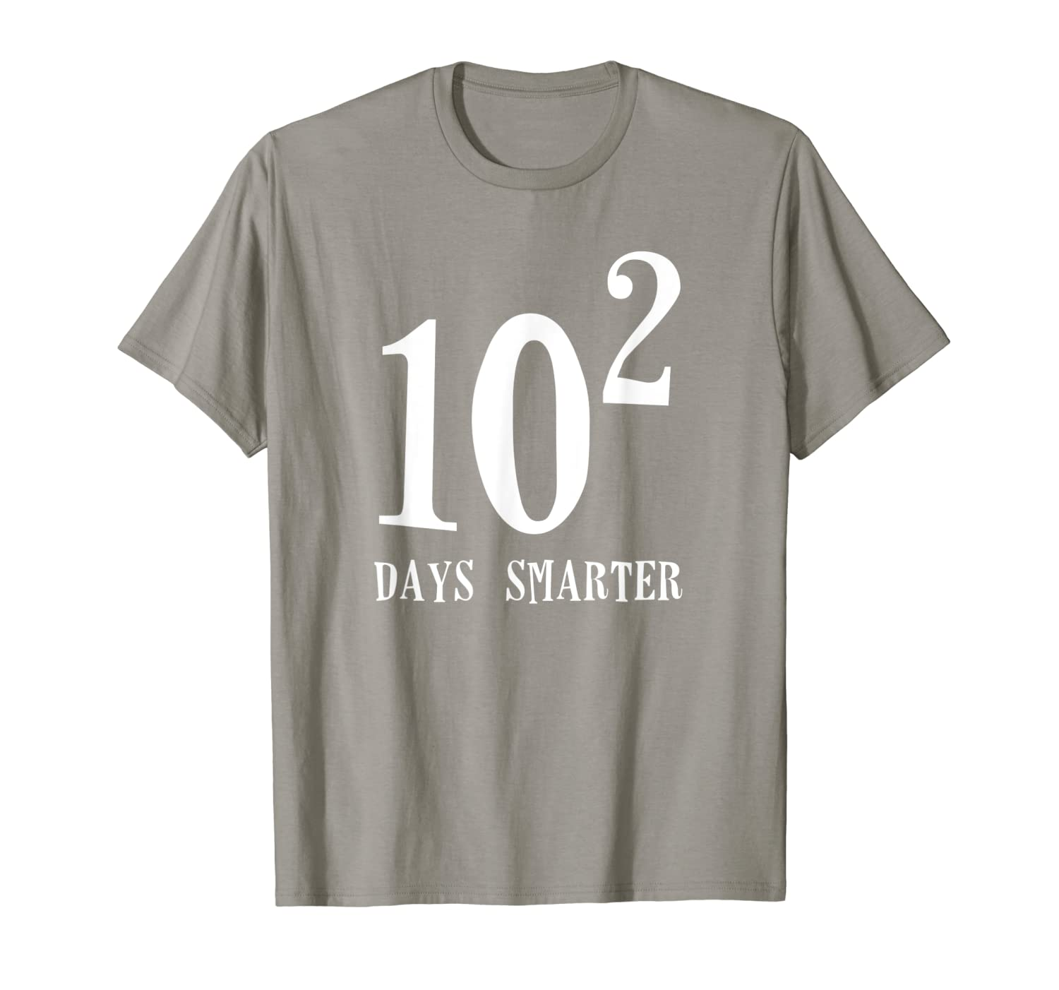 10 Squared 100 Days Smarter Funny Math 100th Day School Gift T-Shirt