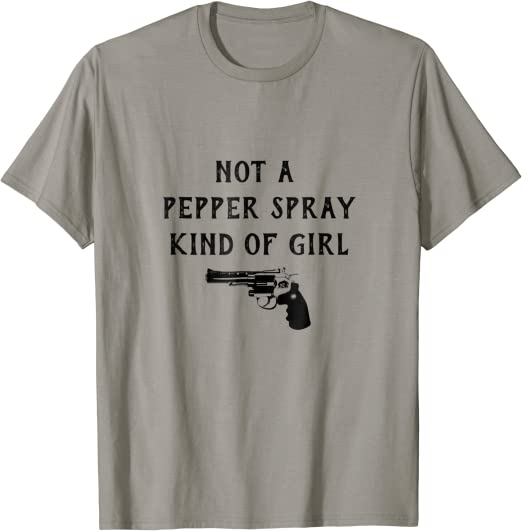 Not A Pepper Spray Kind Of Girl Mens Short Sleeve New Cotton Black T-shirt