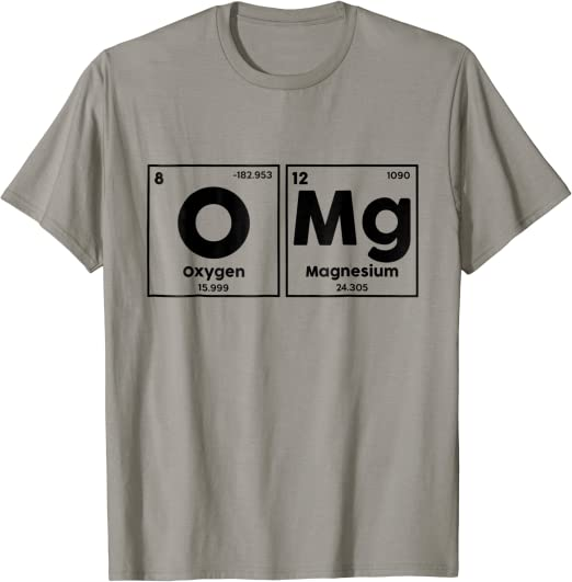 and I was like OMG 3 Sew On Patch Periodic Table Chemistry Science Humor