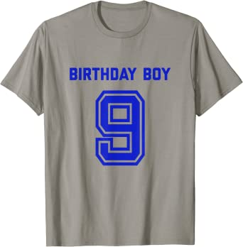 Happy Birthday Tee Age 9 Gift  Worlds Greatest 9 Year Old 9th Birthday T-shirt