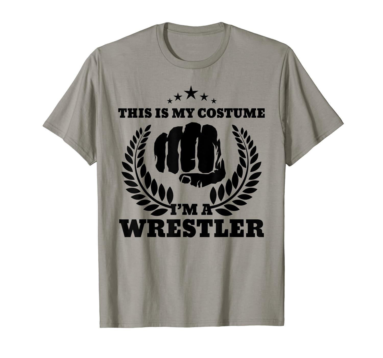 Wrestler Halloween Costume T-Shirt For Wrestling Fans