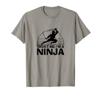 Amazon.com: Parkour Trust Me I m un Ninja Funny Graphic ...