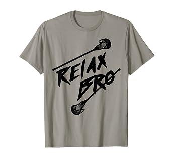 a32f5a6a1648e Amazon.com: Relax Bro   Cute Unique Lax Juniors Gift T-Shirt: Clothing
