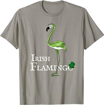 Irish Flamingo Shenanigator Squad Funny Irish Shamrock Shirt T Shirt