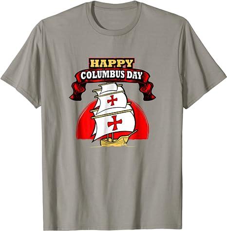 Happy Columbus Day T-Shirt Discovery Italian Explorer Shirt Masswerks Store