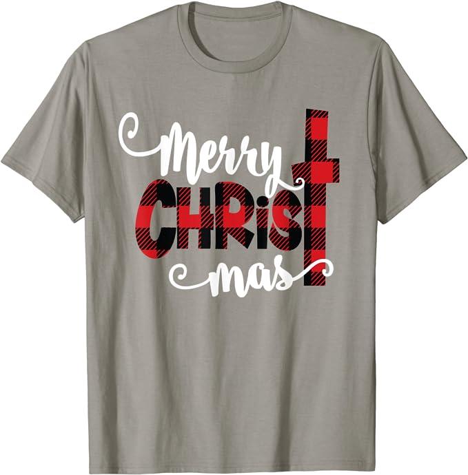 Bubble Style Ladies T-Shirt PUSHING BLACK Merry Christmas