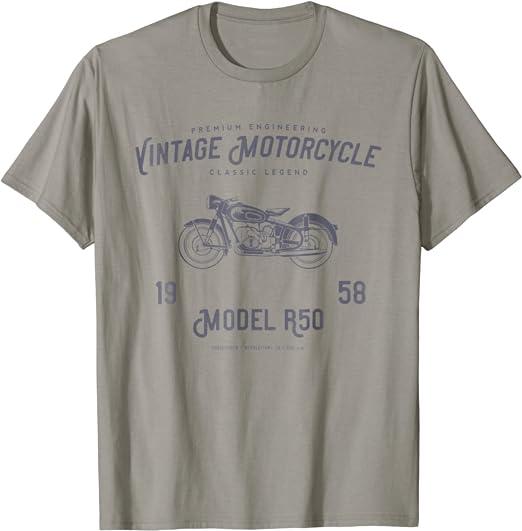 Custom Motorcycle T Shirt Hot Rod Motorbike Biker Retro T Shirt