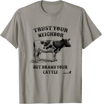 Brand Your Cattle Army Green T-shirt