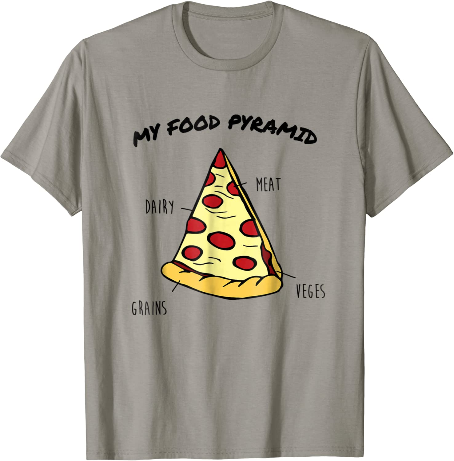 Pizza Slice Food Pyramid Funny T Shirt for Pizza Lovers