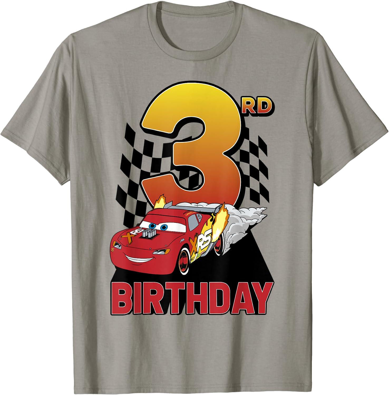 Disney Pixar Cars Lightning McQueen 3rd Birthday Peel Out T-Shirt