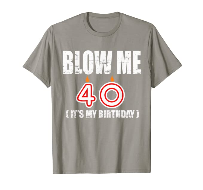 Amazon.com: Happy 40th Cumpleaños playera, fourty años ...