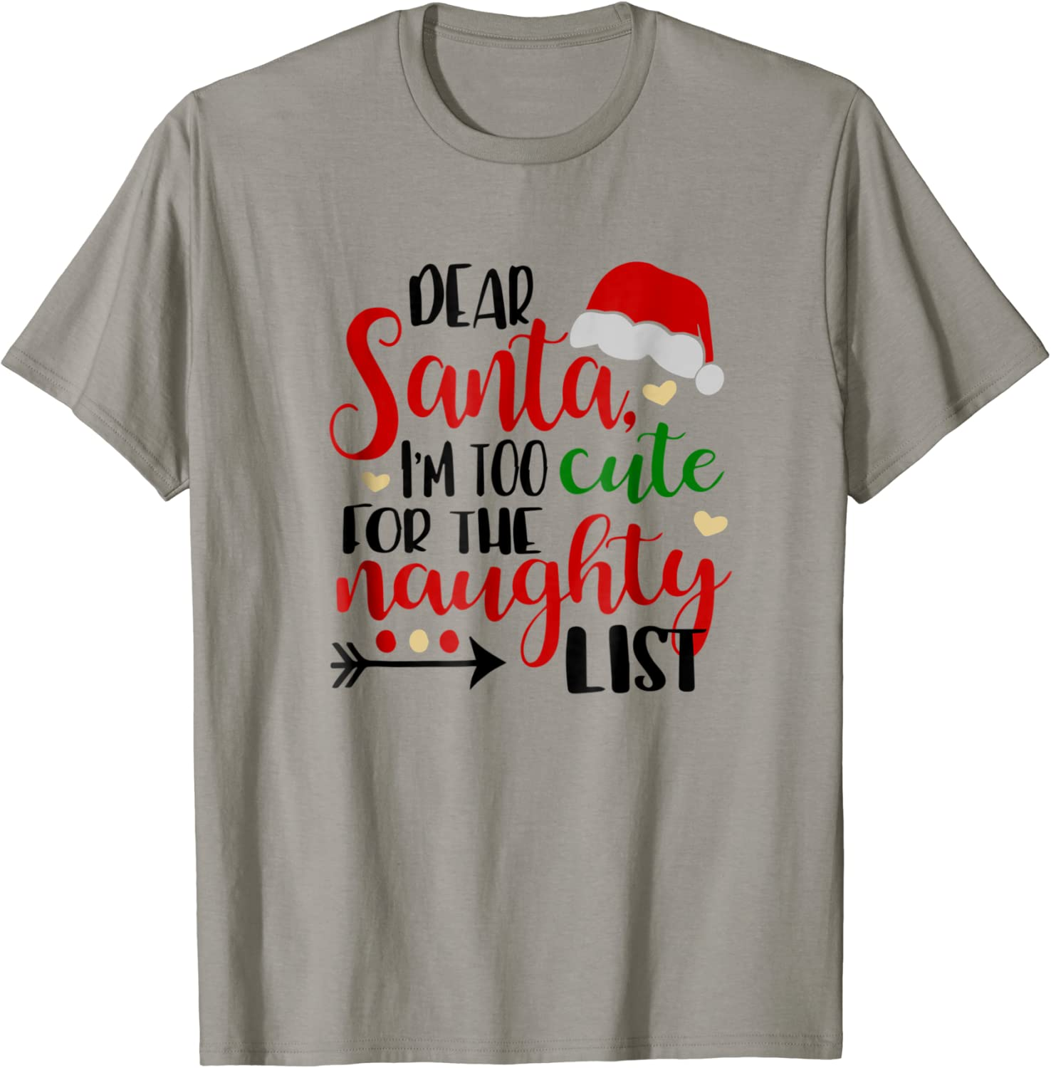 Too Cute for the Naughty List~Christmas Gift~ Personalized Infant Toddler Shirt