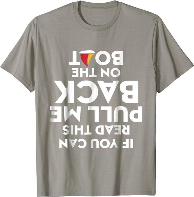 Fishing Kids Childrens T-Shirt Funny tee TShirt If You Can Read This Pull Me B
