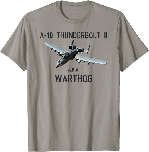 1963C A-10 Warthog Aircraft Kid/'s T-shirt Thunderbolt II Jet Hog Tee for Youth