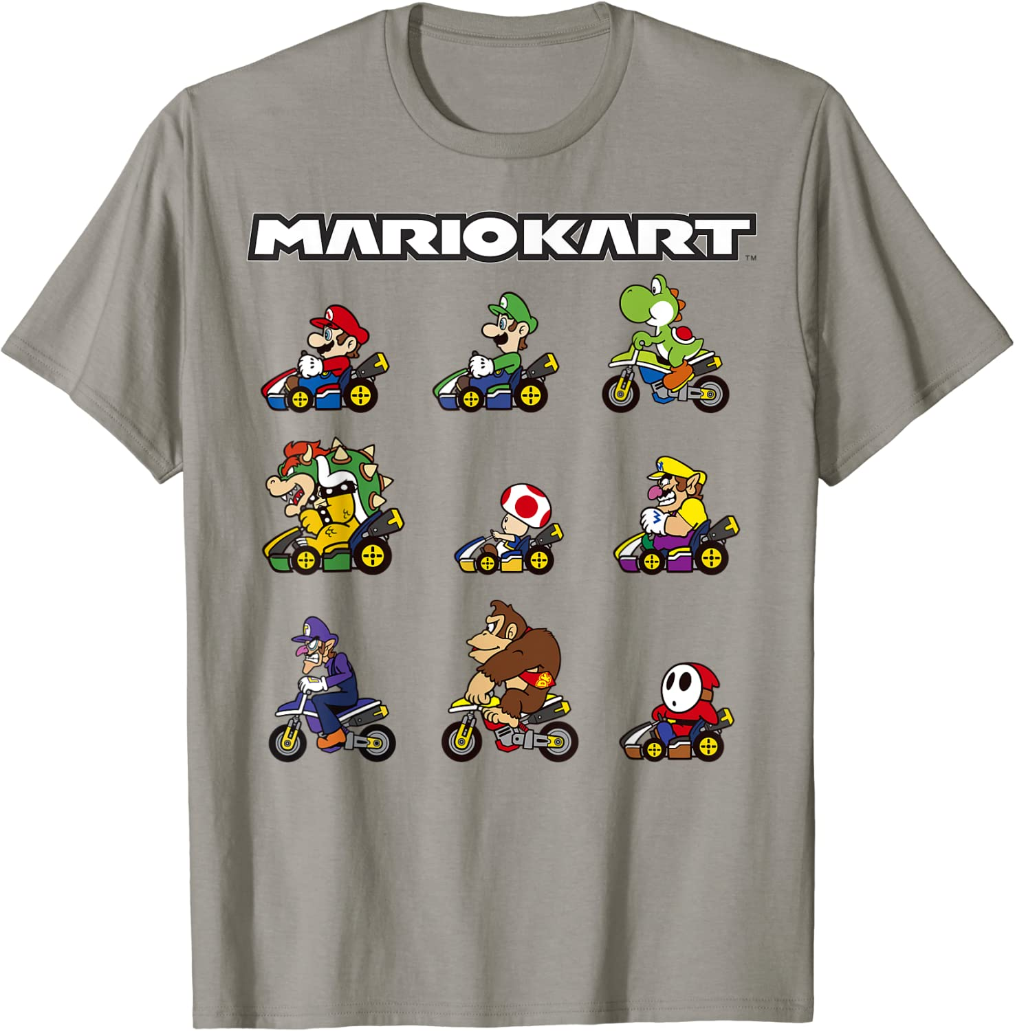 Nintendo Mario Kart Bombing free shipping Racers Graphic Line-Up sale T-Shirt Ready