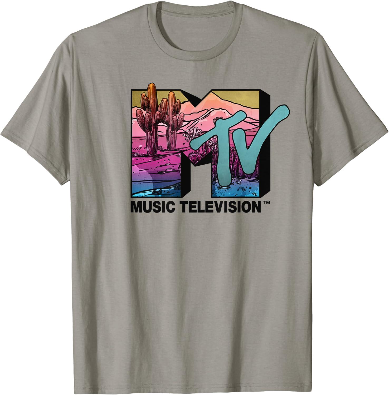 MTV Desert Scene Colorful Logo Graphic T-Shirt