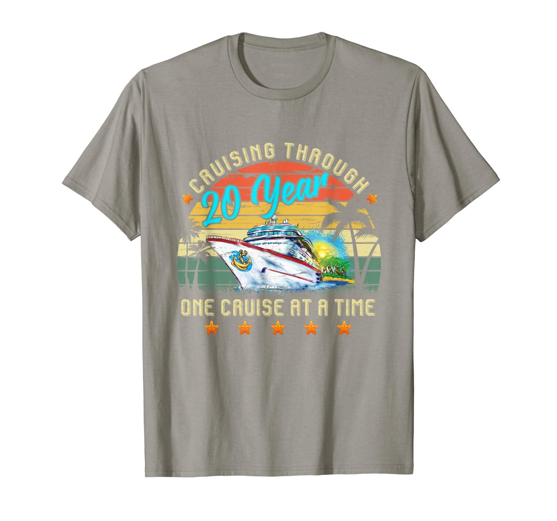 20th Anniversary Cruise shirt Matching Couple vintage  T-Shirt